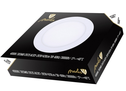 LED panel 6W/PR/SMD/4000K-downlight-zapuštěné